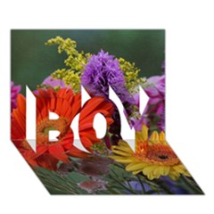 Colorful Flowers Boy 3d Greeting Card (7x5)