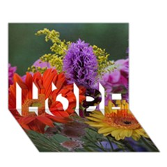 Colorful Flowers Hope 3d Greeting Card (7x5)