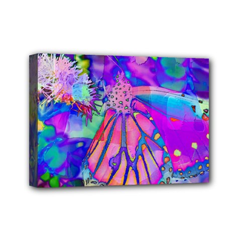 Psychedelic Butterfly Mini Canvas 7  X 5  by MichaelMoriartyPhotography