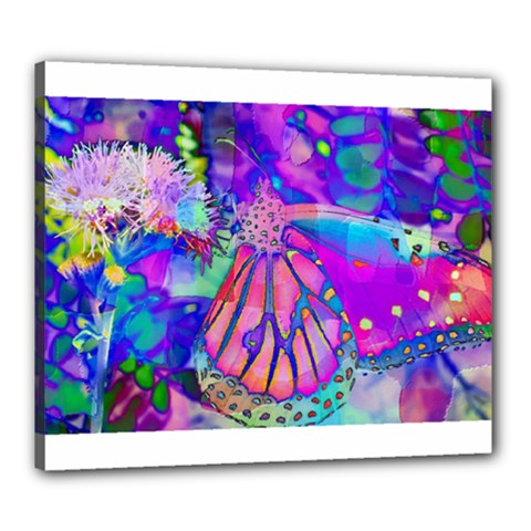 Psychedelic Butterfly Canvas 24  X 20  by MichaelMoriartyPhotography