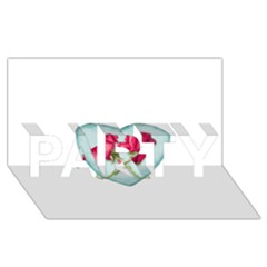 Love Ornate Motif  Party 3d Greeting Card (8x4)  by dflcprints