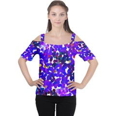 Abstract Land2 11 Women s Cutout Shoulder Tee by BIBILOVER