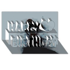 He Never Came Happy Birthday 3d Greeting Card (8x4)