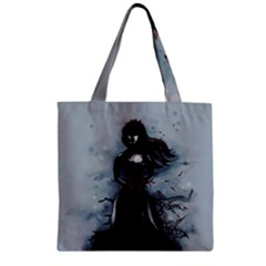 He Never Came Zipper Grocery Tote Bag by lvbart