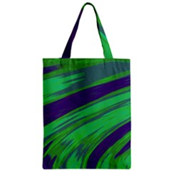 Swish Green Blue Zipper Classic Tote Bag by BrightVibesDesign