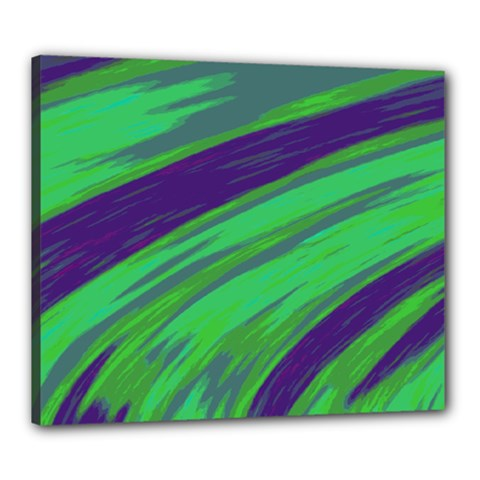 Swish Green Blue Canvas 24  X 20  by BrightVibesDesign