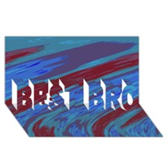 Swish Blue Red Abstract Best Bro 3d Greeting Card (8x4)  by BrightVibesDesign