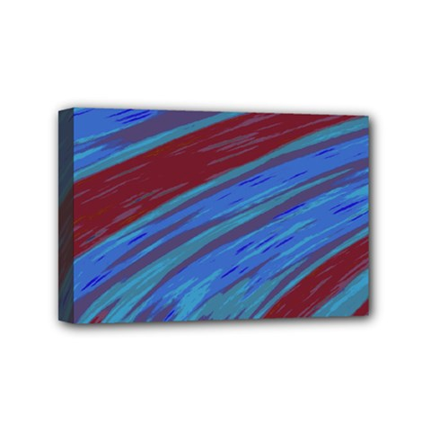 Swish Blue Red Abstract Mini Canvas 6  X 4  by BrightVibesDesign