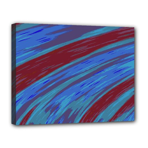 Swish Blue Red Abstract Canvas 14  X 11  by BrightVibesDesign