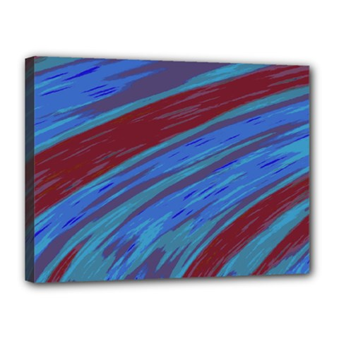 Swish Blue Red Abstract Canvas 16  X 12  by BrightVibesDesign