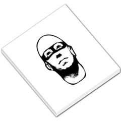 Baldhead Hero Comic Illustration Small Memo Pads by dflcprints