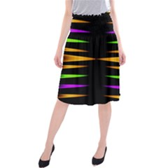 Fireworks And Calming Down Midi Beach Skirt by pepitasart