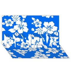 Blue Hawaiian Believe 3d Greeting Card (8x4)