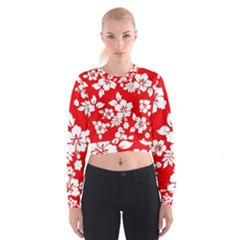 Red Hawaiian Women s Cropped Sweatshirt by AlohaStore