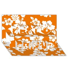 Orange Hawaiian Best Friends 3d Greeting Card (8x4)