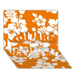 Orange Hawaiian You Are Invited 3d Greeting Card (7x5)  by AlohaStore