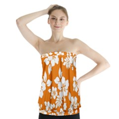 Orange Hawaiian Strapless Top by AlohaStore
