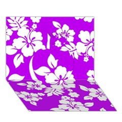 Purple Hawaiian Apple 3d Greeting Card (7x5)  by AlohaStore