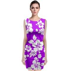 Purple Hawaiian Classic Sleeveless Midi Dress