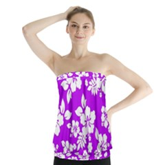 Purple Hawaiian Strapless Top