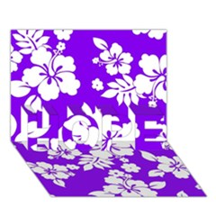 Violet Hawaiian Hope 3d Greeting Card (7x5)  by AlohaStore