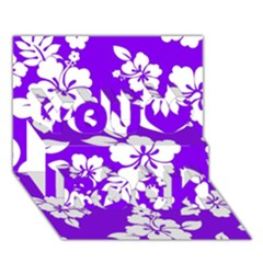 Violet Hawaiian You Rock 3d Greeting Card (7x5)  by AlohaStore
