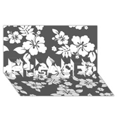 Gray Hawaiian Engaged 3d Greeting Card (8x4)