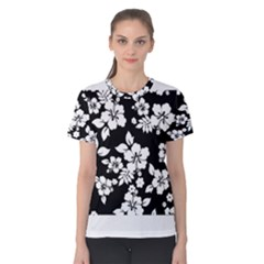 Black And White Hawaiian Women s Cotton Tee by AlohaStore