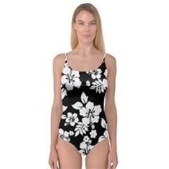 Black And White Hawaiian Camisole Leotard