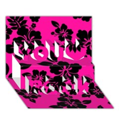 Dark Baby Pink Hawaiian You Rock 3d Greeting Card (7x5)  by AlohaStore