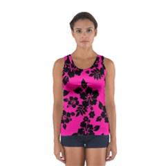 Dark Baby Pink Hawaiian Tops by AlohaStore