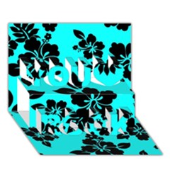 Blue Dark Hawaiian You Rock 3d Greeting Card (7x5)  by AlohaStore