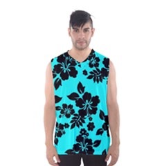 Blue Dark Hawaiian Men s Basketball Tank Top by AlohaStore