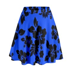 Dark Blue Hawaiian High Waist Skirt by AlohaStore
