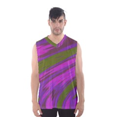Swish Purple Green Men s Basketball Tank Top by BrightVibesDesign