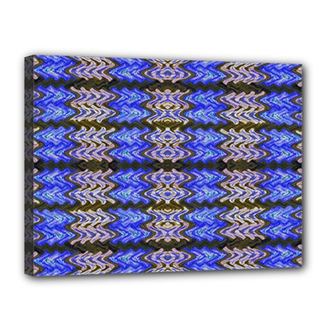 Pattern Tile Blue White Green Canvas 16  X 12  by BrightVibesDesign