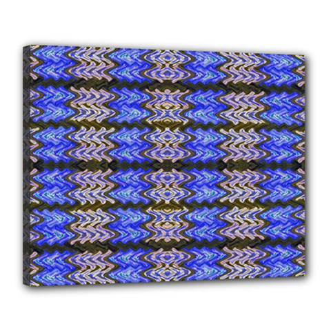 Pattern Tile Blue White Green Canvas 20  X 16  by BrightVibesDesign