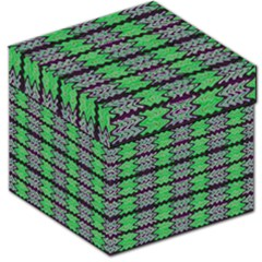 Pattern Tile Green Purple Storage Stool 12   by BrightVibesDesign