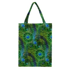 Emerald Boho Abstract Classic Tote Bag by KirstenStar