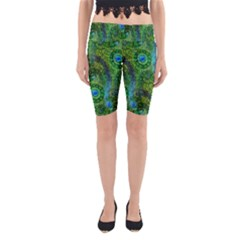 Emerald Boho Abstract Yoga Cropped Leggings by KirstenStar