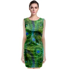 Emerald Boho Abstract Classic Sleeveless Midi Dress