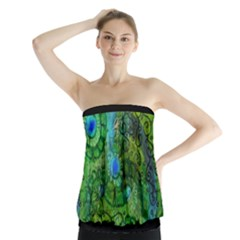 Emerald Boho Abstract Strapless Top by KirstenStar