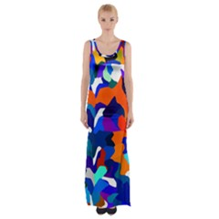 Classic New York Cty13 Maxi Thigh Split Dress by BIBILOVER