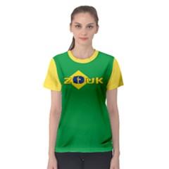 Brazil Flag Zouk  Women s Sport Mesh Tee