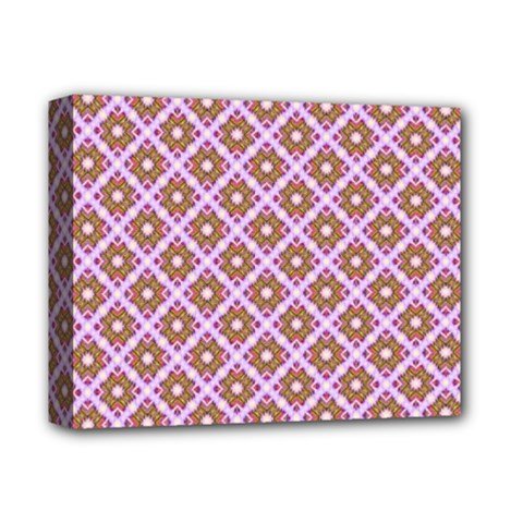 Crisscross Pastel Pink Yellow Deluxe Canvas 14  X 11  by BrightVibesDesign