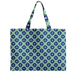 Crisscross Pastel Turquoise Blue Mini Tote Bag by BrightVibesDesign