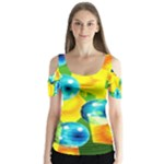 COLORS OF BRAZIL Butterfly Sleeve Cutout Tee