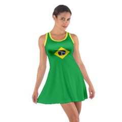 Brazil Flag Zouk Cotton Racerback Dress