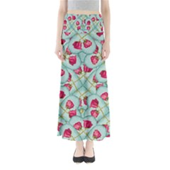 Love Motif Pattern Print Maxi Skirts