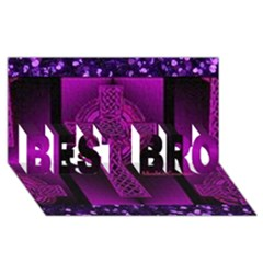 Purple Celtic Cross Best Bro 3d Greeting Card (8x4)  by morbidcouture